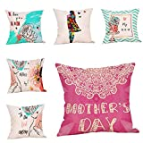 Worlddream Mother's Day Printing Cotton Linen Pillow Case Cushion Cover Sofa Home Decor cojines decoraci n cama ni os #SS 1pcs