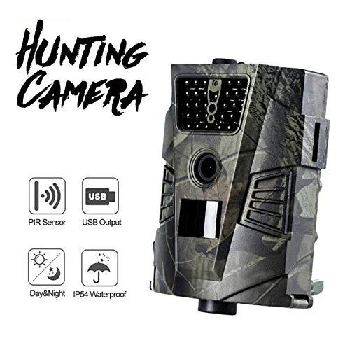 life-Kamera 1080P 12MP Wilde Jagd, Bewegung aktiviert Nachtsicht IP54 wasserdicht, für Outdoor Wildlife Monitoring und Home Security (Color : -, Size : -) ()