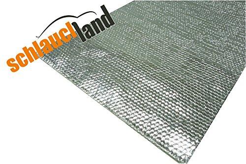 100x20cm Alu-Fiberglas Hitzeschutzmatte selbstklebend *** Hitzeschutzband Turbo Auspuff Krümmer Isoliermatte Hitzeschutzfolie