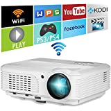 EUG Wifi cine en casa HD 1080p LED Proyector LCD 1280 * 720 con Android DVB-T Beamer HDMI USB VGA AV inalámbrico para el ordenador portátil / iPad / Xbox