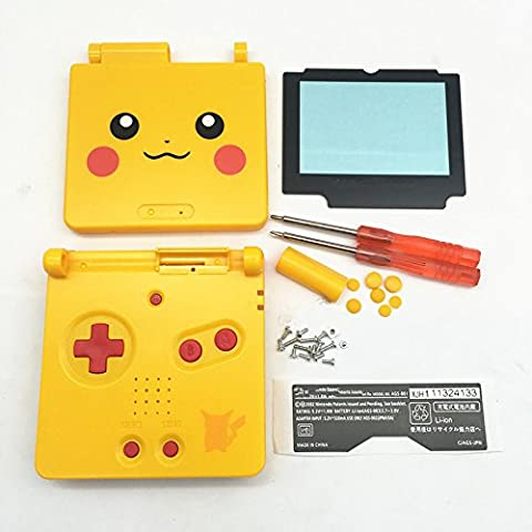 Junsi Yellow Limited Replacement Housing Shell Fundas Case Cover w/Screwdrivers destornilladores for GBA SP Gameboy Advance SP