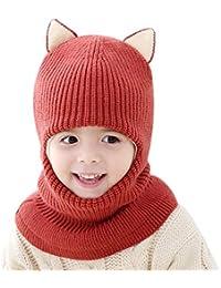 Scrox 1 Pcs Coton Bébé Infant Bavoir pour Enfants À La Main Bonnet Tricoté  Chapeau Automne Hiver Bébé Toddler… a352032d55b