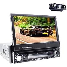 Reproductor multimedia para coche, Bluetooth, GPS, 1DIN, audio estéreo, receptor de radio FM, reproductor de mp3, entrada auxiliar, puerto USB, ranura para tarjeta SD, reproductor de DVD