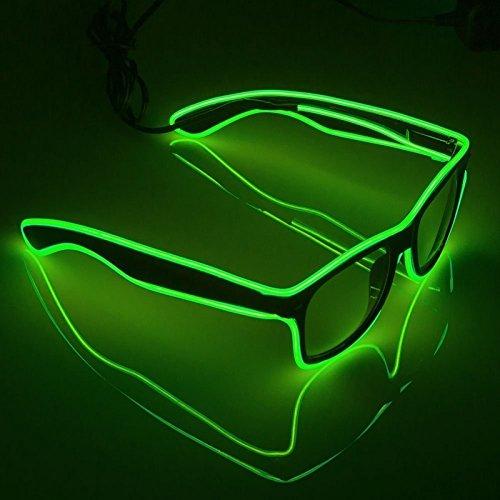 Light Up Led Kostüm - AZX LED-Brillen Mode Nacht Leuchten Gläser