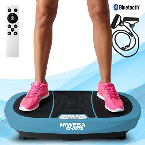 Miweba Sports Fitness Vibrationsplatte MV200 - 3 Vibrationsmodi - Horizontal - Vertikal - Oszillierend - 400 Watt (Blau)