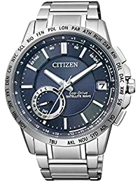 Citizen Herren-Armbanduhr Satellite Wave Analog Quarz Edelstahl CC3000-54L