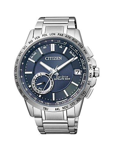 Citizen Herren-Armbanduhr Satellite Wave Analog Quarz Edelstahl CC3000-54L