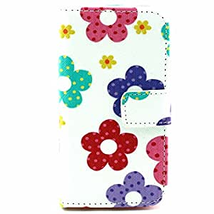 LG Optimus L70 / D325 Case , ivencase [ Hot Stile] Colorato Fiore Portafoglio PU Pelle Shell Buckle Stare Folio Protettivo Skin Cover Per LG Optimus L70 / D325
