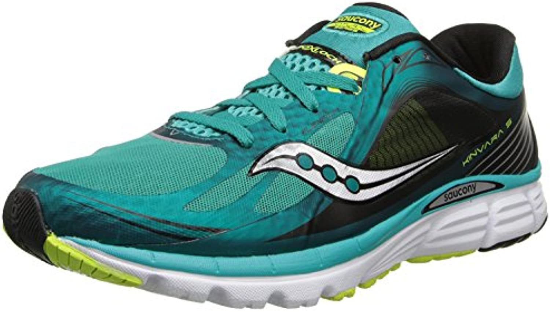 Saucony Men's Kinvara 5 Running Shoe, Verde Azulado(Teal/Citron), 44 D(M) EU/9 D(M) UK