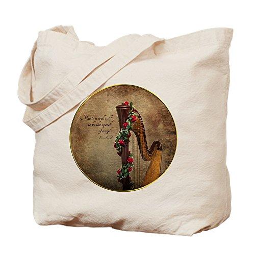 CafePress Harp Einkaufstasche aus Leinen, naturfarben, canvas, khaki, M
