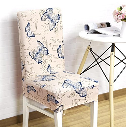 PLYY 1pcs Stretch Home Decor Dining Chair Cover For Wedding Party Chair Cover Removable Stretch Elastic Slipcover Dining Chair Seat Covers Five styles available, style 1
