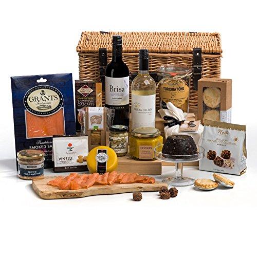 Hay Hampers Luxury Christmas Day Food & Wine Hamper Basket - FREE UK Delivery