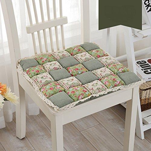 EUDFNDNFD Kleine Gitter Weichen sitzkissen Pad,Baumwolle Perfekte Kissen Indoor Outdoor,Dnnschliff-kche-Bro-sitzpolster,Car Seat Kissen-N 48x48cm(19x19inch)