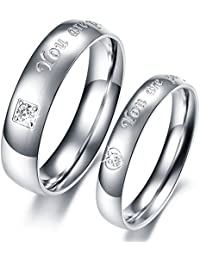 Via Mazzini Stainless Steel 'You Are Perfect In My Mind' Proposal Couple Rings For Girls And Boys (Ring0260)