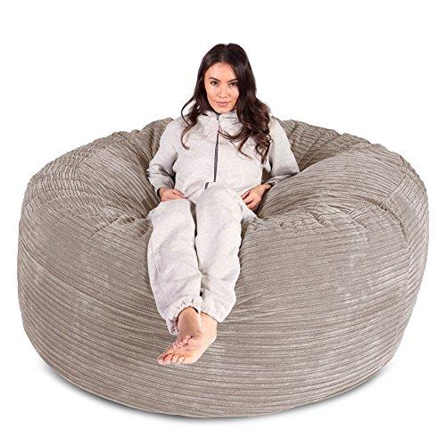 Lounge Pug® – Cord – CLOUDSAC – Huge Memory Foam GIANT Bean Bag SOFA – 1000  Litre – Beanbag UK – IVORY 37fb4f4fa94ed