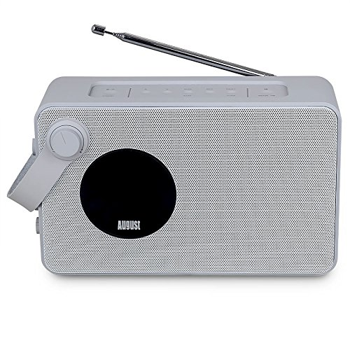 August mb415 radio digitale dab con altoparlante for Radio con chiavetta usb
