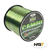 NGT Unisex's Spool of Camo Line, Green, 15 lb/1300 m