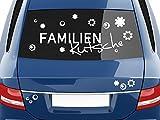 GRAZDesign 740418_57_010G Autoaufkleber Sticker Aufkleber Set für Auto Schriftzug Familien Kutsche Blumen (99x57cm//010 weiß)