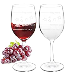 Idea Regalo - Bicchiere da vino: vetro inciso con un messaggio divertente - Bicchiere da vino personalizzato, Bicchiere stelo unico per vino rosso, bianco e rosato, regalo di Natale con incisione laser