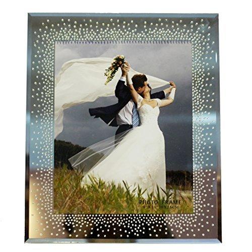 20,3x 25,4cm Spiegel Bilderrahmen mit eleganten Strass Details-Wedding Collection-abgeschrägte, gespiegelt, Bling. Die perfekte Art zu sagen, ich liebe sie-8von 25,4cm