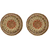 Confidence Combo Of Baskets, Cane Basket For Fruit, Vegetables And Serving Chapati, Brown, 20 Gram, Set Of 2, Pack Of 1