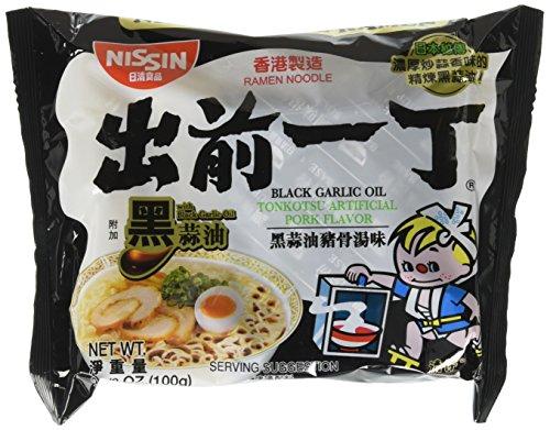 Nissin Demae Ramen Black Garlic Oil Tonkotsu Flavour Instant Noodle 100g x 30