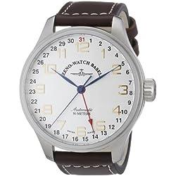 Zeno Watch Basel Herren-Armbanduhr XL Oversized Analog Automatik Leder 8554Z-f2