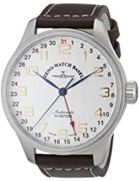 Zeno Watch Basel Men's Automatic Watch Oversized 8554Z-f2 with Leather Strap