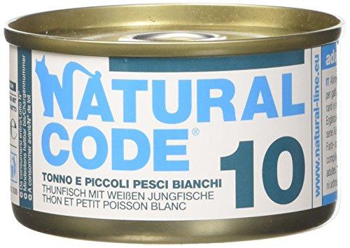 NATURAL CODE Cat 10 Tonno Pesce Bia Alimenti Gatto Umido Premium (Natural Code)