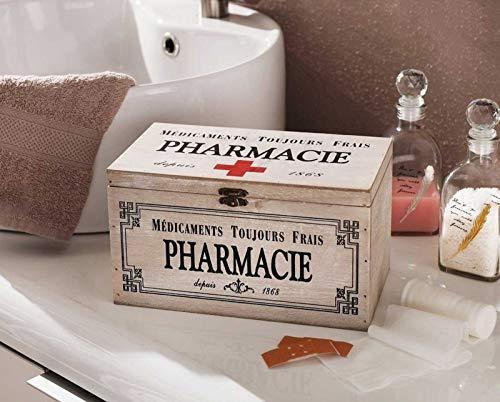 51tbY3x40TL - SIDCO Medicinal Buzón Madera Botiquín Primeros Auxilios Box Clayre & Eef Casa Decorativa Almacenamiento
