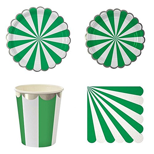 (Remeehi Stripe Teller Tasse Serviette Kids Happy Birthday Party Dekoration Einweg Papier Geschirr Set Mädchen Favor 3#)