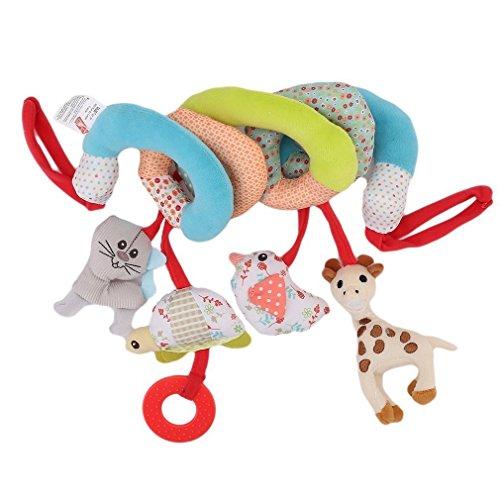 Twisty Gelockt Kinderwagen Buggy Kinderwagen Bett Auto Sitz zum Aufhängen Baby Activity Rassel Spielzeug ()