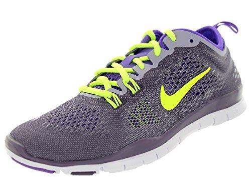 Nike Free 5.0 Print, Chaussures de running entrainement femme Drk Rsn/Vlt/Hypr Grp/Prpl Stl