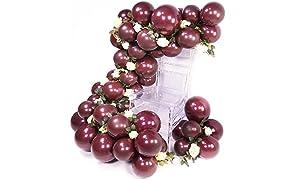 PuTwo Palloncini Bordeaux 50 Pezzi Palloncini 12'' Palloncini Opachi Palloncini Vino Rosso, Palloncini Lattice per Vino Rosso Decorazione Compleanno, Addobbi Matrimonio Bordeaux, Palloncini Battesimo