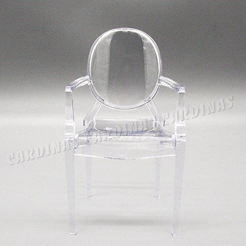 Odoria 1/6 Miniatur Möbel Esszimmerstuhl Sessel – Plastik Klar Für Puppenhaus Möbel Zubehör
