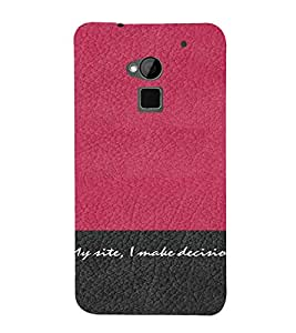 PrintVisa Attitude Quotes Design 3D Hard Polycarbonate Designer Back Case Cover for HTC One Max