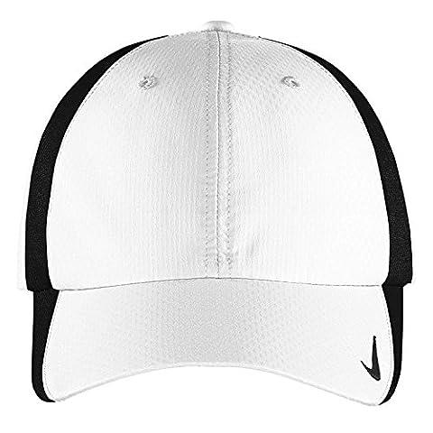 Authentique Nike Sphere Dry rapide Swoosh Profil bas réglable brodé - Cap Blanc Noir