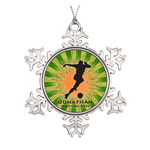 Daily Lady Personalisierte Fußball Ornament (Handabdruck Christmas Ornament)