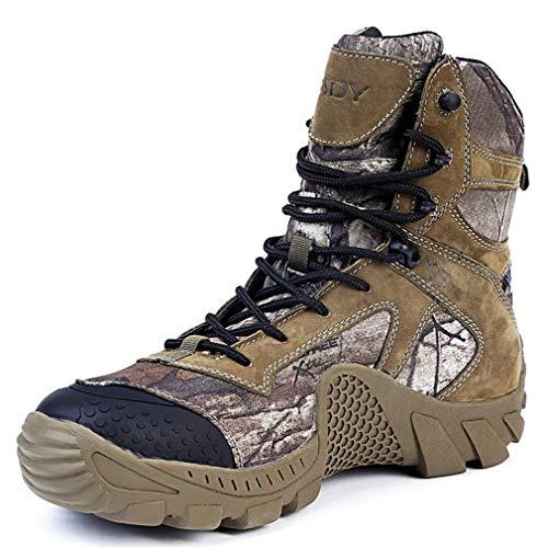 6bc7f27606c YAN Bottes en cuir pour hommes Chaussures de travail Baskets Bottes Martin  Jungle Boots SUV Chaussures