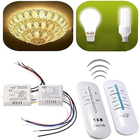 Nuovo telecomando 2/3canale lampada da parete senza fili interruttore splitter trasmettitore e ricevitore