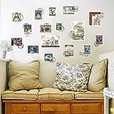 Wallpark Artistique Créatif Coloré National Poste Timbre Amovible Stickers Muraux Autocollants, Salon Chambre Maison DIY Décoratif Adhésif Stickers Mural...