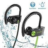 Bluetooth Kopfhörer, Letsfit IPX7 Wasserdicht Sport Kopfhörer Kabellos, 8 Stunden Spielzeit, Laufen Ohrhörer In Ear Kopfhörer mit Mikrofon für Gym Fitness Joggen Workout