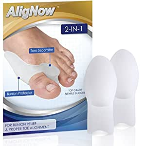 Bunion Relief Pack - 2 Bunion Pads Toe Spreaders - For Pain Relief and Proper Toe Alignment - Left & Right