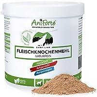 AniForte Fleischknochenmehl 500g für Hunde und Katzen, Natürliche Deckung des Kalzium und Phosphorbedarfs beim Barfen, Barf Ergänzung, Absolut Natürlich