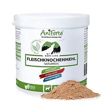 AniForte Poudre de® 500g Barf naturel pur viande os Farines farine d'os?Produit Naturel pour chiens