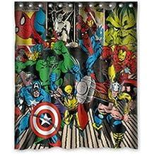Whitexue captain america Hulk Spider Man Waterproof Custom Waterproof Shower Curtain 60x72 inch Surprised Gift