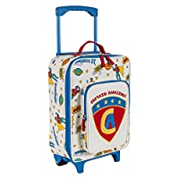 Pink Lining Wheelie Case / Childs Suitcase - Captain Amazing Design