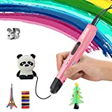 FJY Stylo 3D,Professionnel Pen Stylo d'impression avec Ecran LED Stylo DIY Dessin 3D Compatible avec 1.75mm PLA/ABS/PCL Filament pour Adultes Doodling Artiste DIY Dessin,Pink,Hightemperature