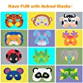 FUNVCE Kids Foam Animals Masks, EVA Party Masks, 25 Pieces for Masquerade, Christmas, Halloween, Birthday Party, School Plays from FUNVCE