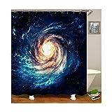 Beydodo Duschvorhang Anti-Schimmel Galaktischen 3D Duschvorhang Vintage 180x200
